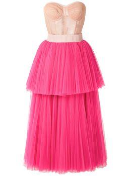 Dolce&Gabbana ярусное платье-бюстье без бретелей F6G4YTGDR77