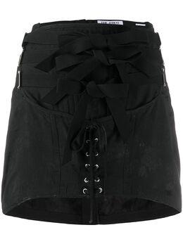 The Attico юбка мини со шнуровкой 201WCS01V009100