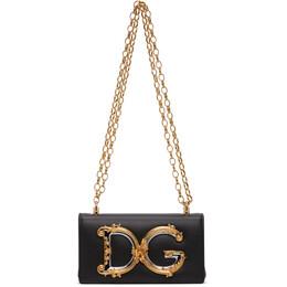 Dolce&Gabbana Black DG Girls Phone Bag BI1416 AW070