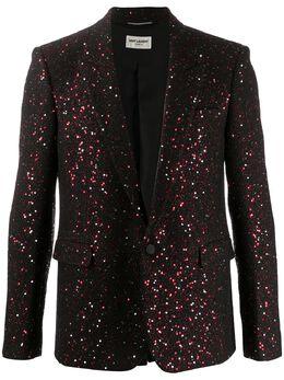 Saint Laurent пиджак с вышивкой пайетками 603194Y857V