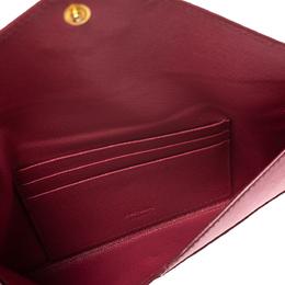 Prada Pink Saffiano Leather Envelope Wallet 284760