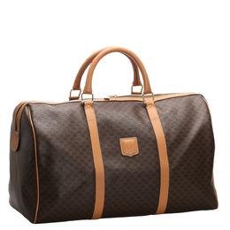 Celine Brown/Dark Brown Macadam Canvas Travel Bag 282008