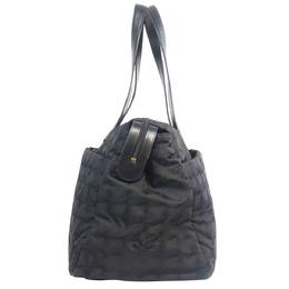 Chanel Black Canvas New Travel Line Large Bag 285413