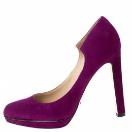 Paul Andrew Purple Suede Manhattan Pumps Size 36 285679