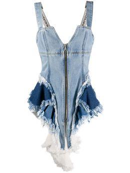 Natasha Zinko расклешенный джинсовый корсет R202078706