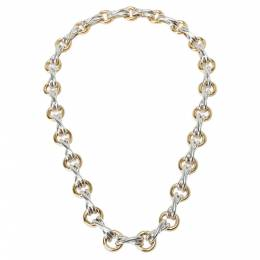 Tiffany & Co. Paloma Picasso X&O 18K Yellow Gold And Sterling Silver Necklace 284802