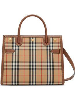 Burberry маленькая сумка Title в клетку Vintage Check 8025274