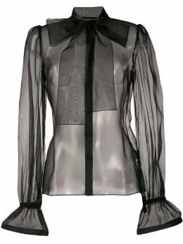 Dolce&Gabbana прозрачная блузка с бантом F5M35TFU1BU