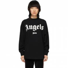Palm Angels Black Angels Long Sleeve T-Shirt PWAB012S20JER0021001