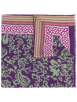 Etro кашемировый шарф с цветочным принтом 117775048