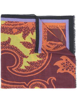 Etro кашемировый шарф с узором пейсли 117775041