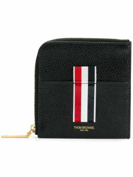 Thom Browne Vertical Intarsia Stripe Zip-around Wallet In Pebble Grain Leather MAW104A00198