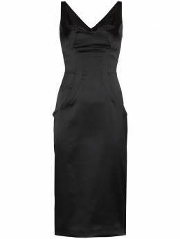 Dolce&Gabbana атласное платье миди F6D6CTFURHU
