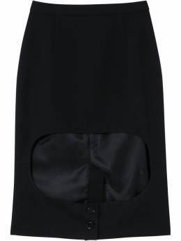 Burberry юбка-карандаш из джерси 4564568