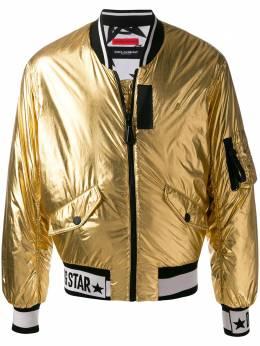 Dolce&Gabbana куртка-бомбер DG Star с эффектом металлик G9QV0TFUSH3
