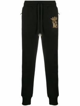 Dolce&Gabbana спортивные брюки с вышитым логотипом GYPQAZG7WDA