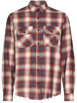 Amiri фланелевая рубашка в клетку W9M04373PD