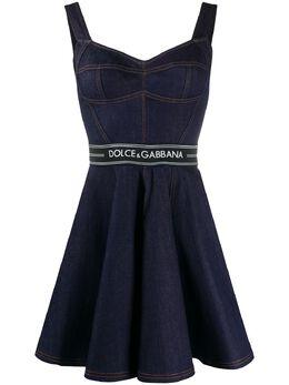 Dolce&Gabbana расклешенное джинсовое платье мини F6H3SDG898Z