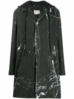 Greg Lauren пальто миди с капюшоном M034M