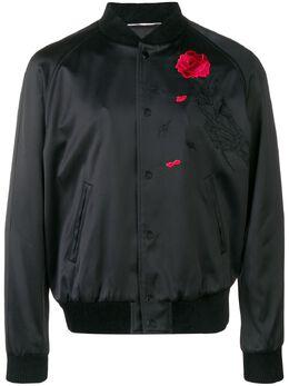 Saint Laurent куртка-бомбер с вышивкой 534887Y161W