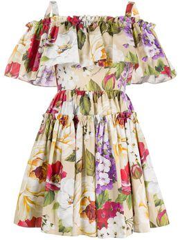 Dolce&Gabbana платье мини с цветочным принтом F63X7THS5GA