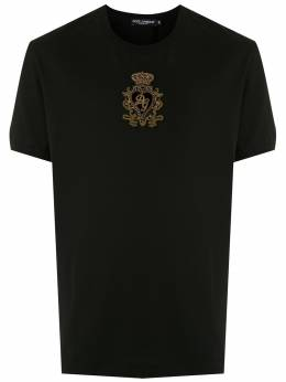 Dolce&Gabbana футболка с вышитым логотипом G8JX7ZG7VNM