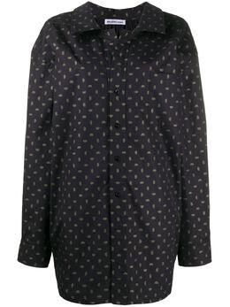 Balenciaga рубашка оверсайз с логотипом 601836TGL02