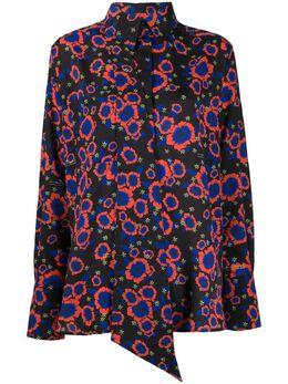 Rokh рубашка с цветочным принтом и завязками R0CA109