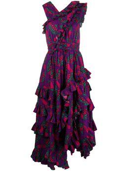 Ulla Johnson платье Imogen с принтом и оборками SP200117