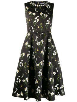 Erdem вечернее платье с цветочным принтом 21191DMIBE