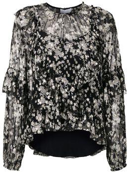 NK блузка с цветочным принтом и оборками BT020156