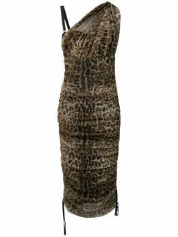 Dolce&Gabbana леопардовое платье со сборками F6D9YTFSEGZ