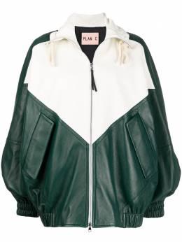 Plan C куртка-бомбер в стиле колор-блок JKCXA03G00LA002