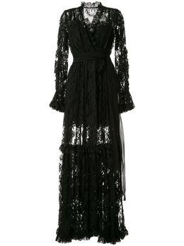 Dolce&Gabbana вечернее платье с цветочным кружевом F6G8WTHLMQJ