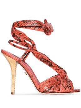 Dolce&Gabbana босоножки с тиснением под кожу питона CR1016A2043