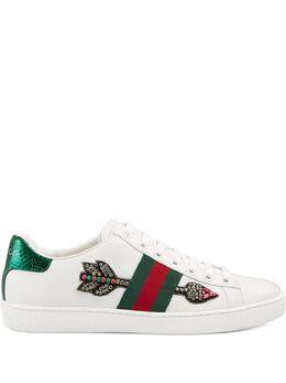 Gucci кроссовки 'Ace' с вышивкой 454551A38G0