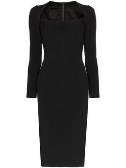 Dolce&Gabbana платье миди с U-образным вырезом F6G3ITFURDV