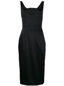 Dolce&Gabbana атласное платье миди Dutchess F6G4PTFURHH