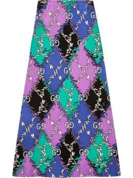 Gucci юбка с принтом GG Rhombus 602246ZADFO
