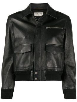 Saint Laurent укороченная куртка 589362YC2UE