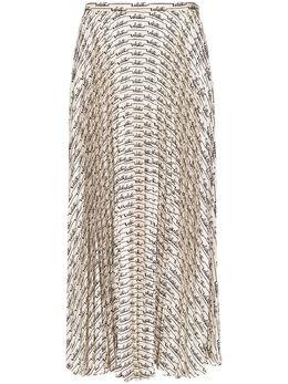 Valentino плиссированная юбка миди с логотипом TB3RA5K2551