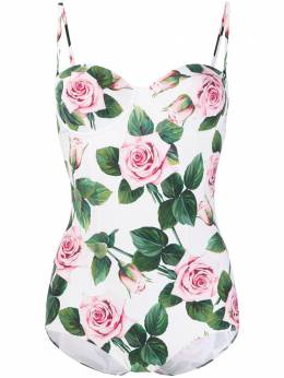 Dolce&Gabbana купальник с принтом Tropical Rose O9A13JFSGR0