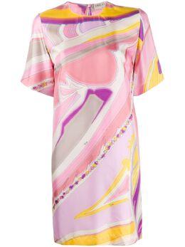 Emilio Pucci платье-футболка с абстрактным принтом 0HRG400H761