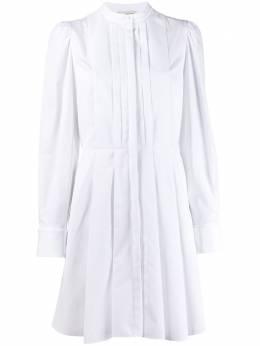 Alexander McQueen платье-рубашка со складками 609723QAAAD