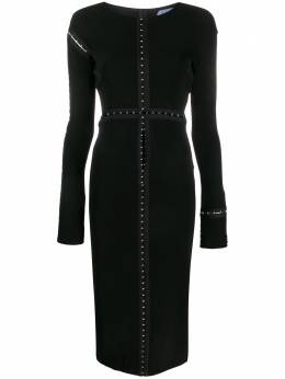 Mugler платье миди с длинными рукавами 19S1RO1087446R01087