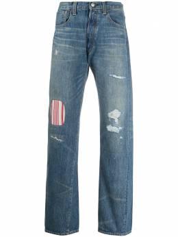 Junya Watanabe Man джинсы средней посадки со вставкой в полоску WEP202S20