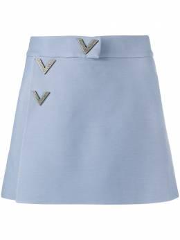 Valentino юбка-шорты с пуговицами TB3RA4E01CF