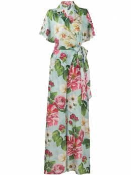 Dolce&Gabbana комбинезон с запахом и цветочным принтом F6H4VTIS1A4