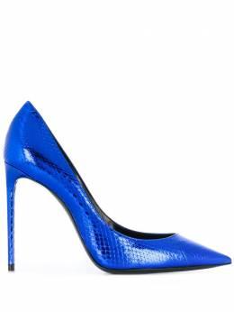 Saint Laurent туфли-лодочки Anja с тиснением под кожу змеи 601734EXV00