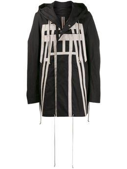 Rick Owens DRKSHDW пальто с капюшоном и аппликацией DU20S5968TEEW6